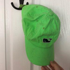 Vineyard Vines neon green baseball hat
